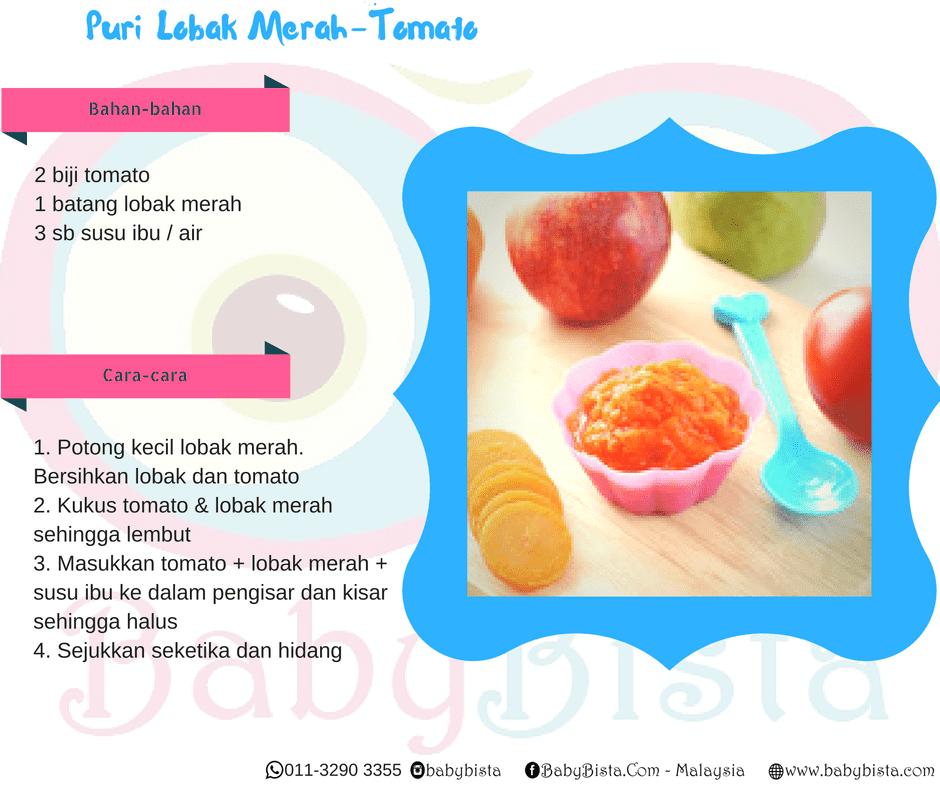 resepi puri lobak merah tomato