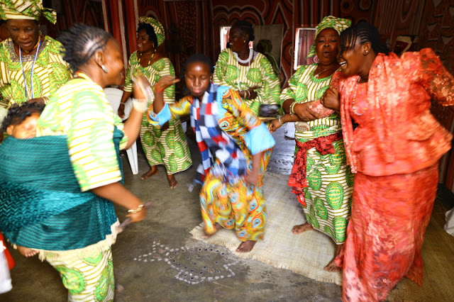 Dancing away at Iya Osun's birthday