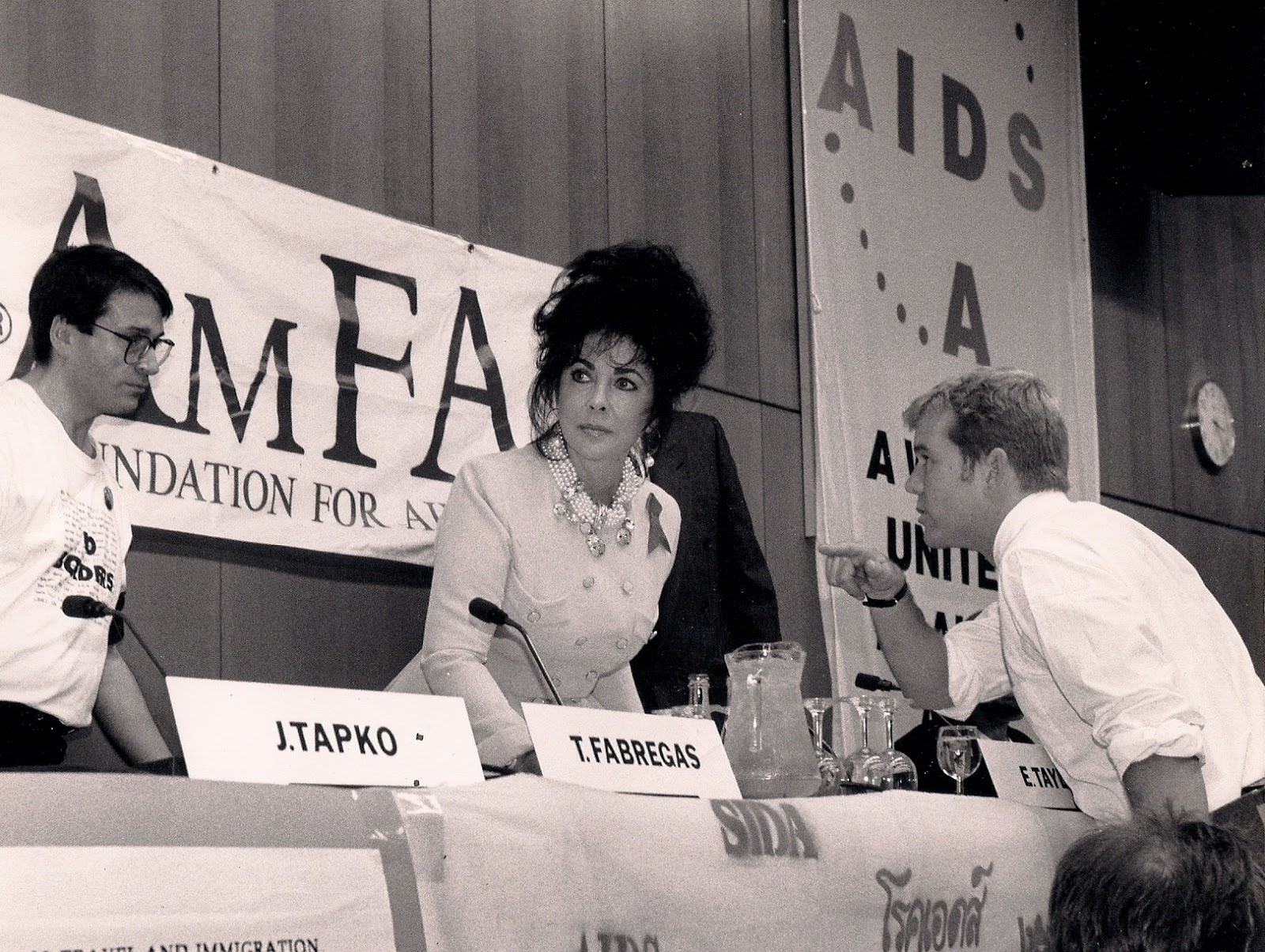 Elizabeth Taylor at an AIDS event