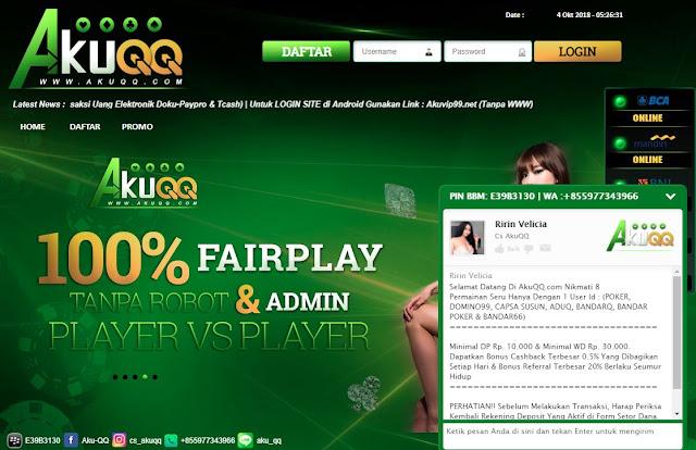 Agen Qq Pro Bandarq Situs Judi Online Terbaik Akuqq
