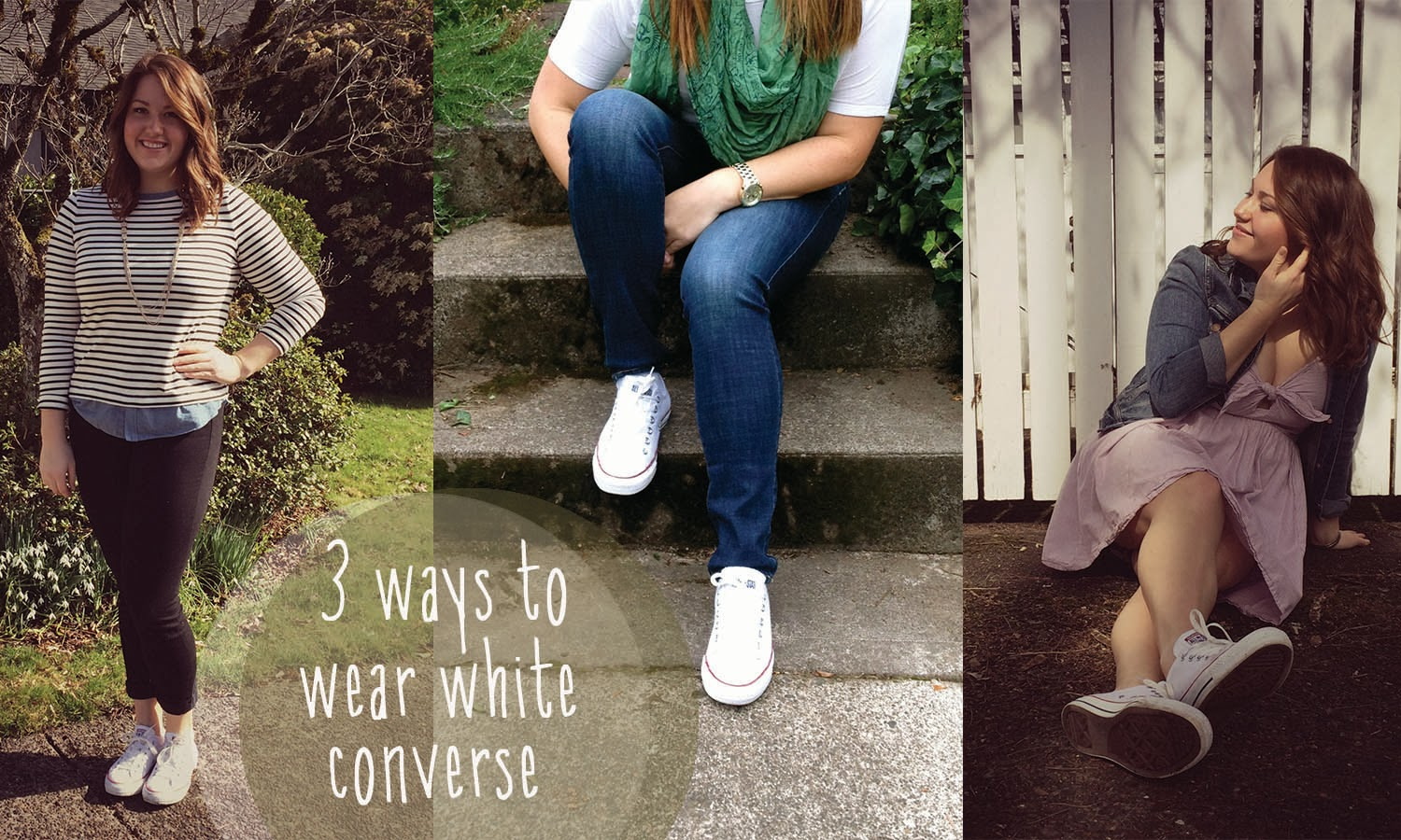 d584466f0be7 Simply Gold and Glitter  3 Ways to Wear White Converse!