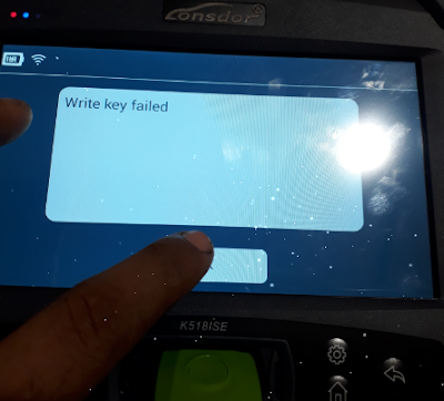 k518-write-key-failed