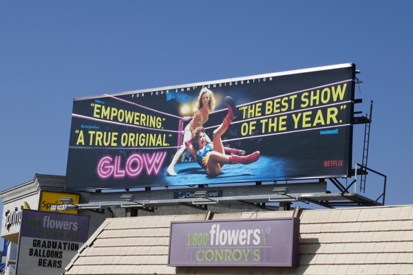 GLOW season 1 Emmy consideration billboard