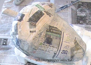 Acorn armature Covered in Paper Mache