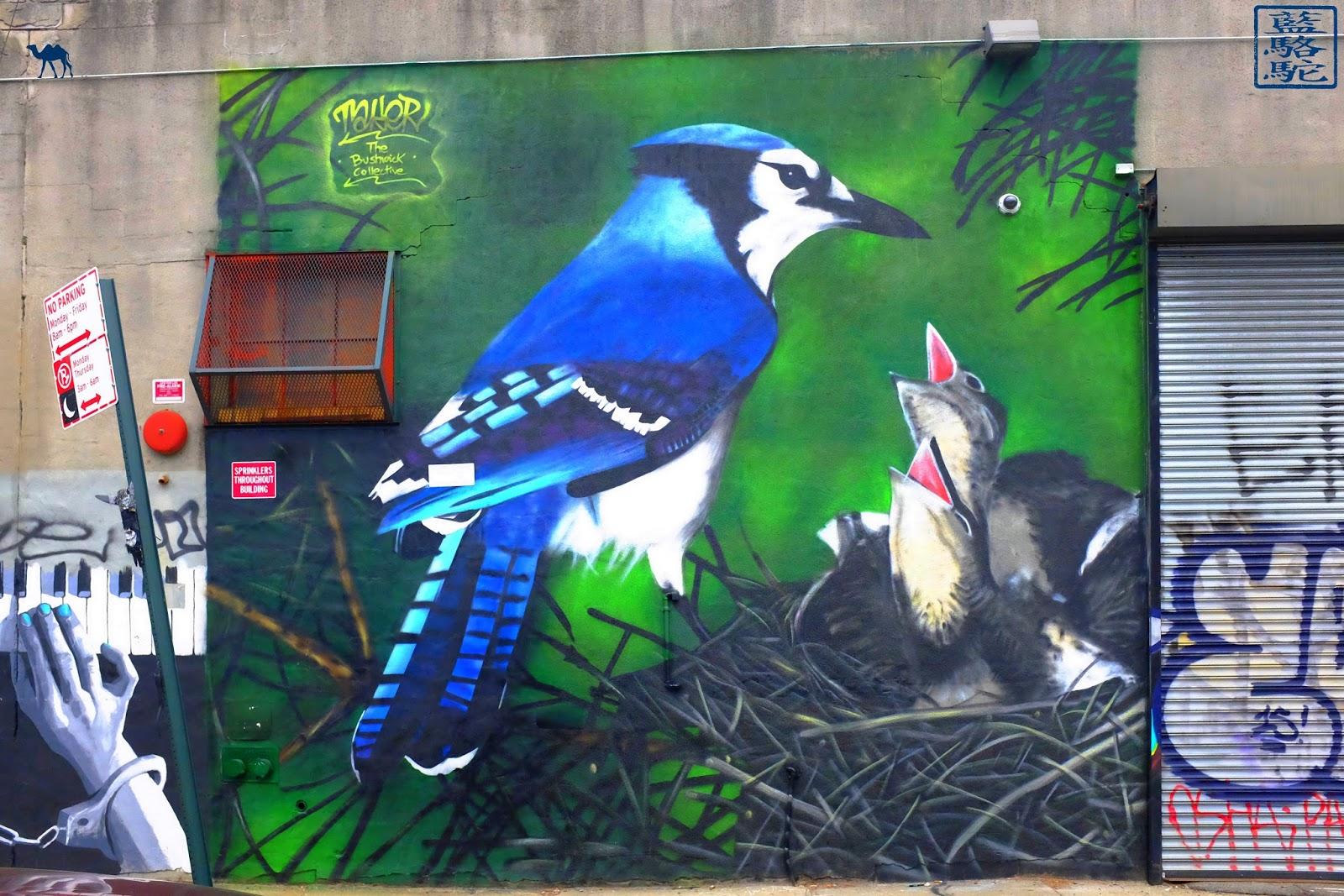 Le Chameau Bleu - oiseaux - Bushwick - Street Art