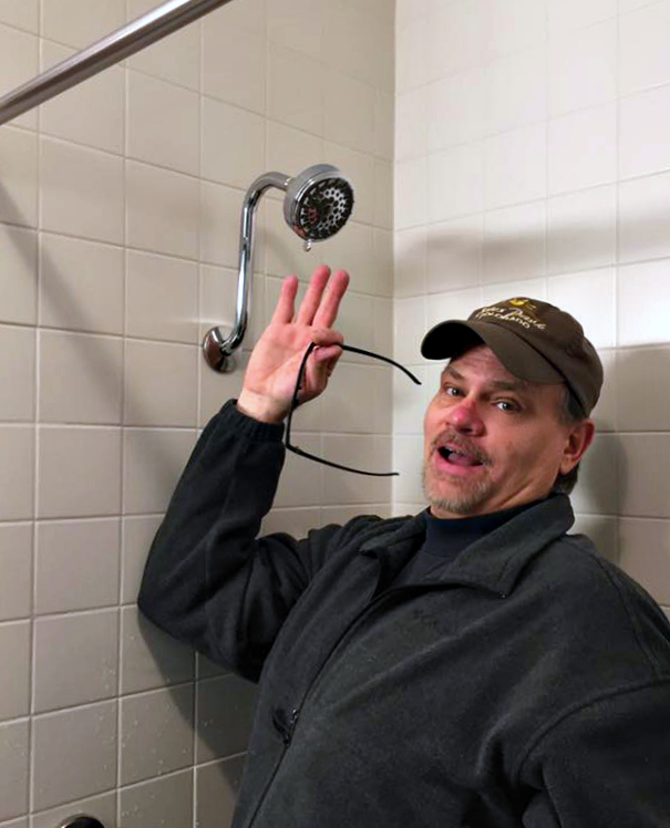 One Of My Sonu0027s Favorite Upgrades Was Raising The Shower Head A Few Inches  So He Can Get Under It To Shower! Iu0027m Not Sure Why It Was So Low In The ...
