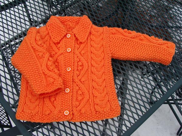 c501c3487 Bead Knitter Gallery  Baby Aran in Orange