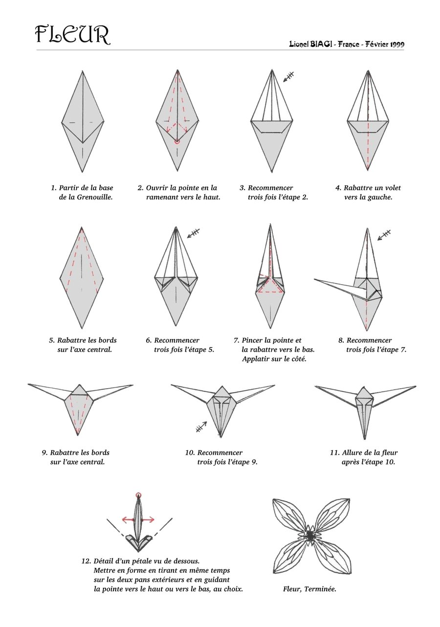 origami instruction another origami flowers web wanderers