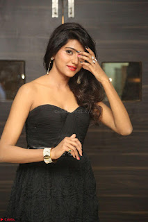 Shalu Chourasiya in spicy Sleeveless Strapless Black Top at O Pilla Nee Valla Movie Audio Launch Feb 2017 038.JPG