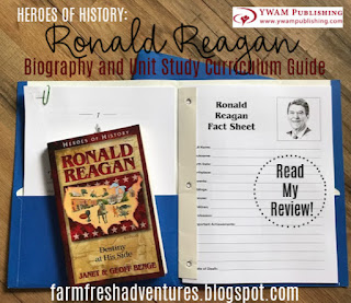 Heroes of History- Ronald Reagan Unit Study YWAM Publishing {Product Review}