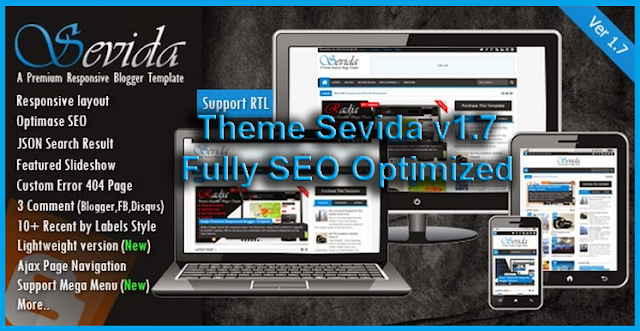 Theme sevida v.1.7 Clean & Fully SEO Optimized