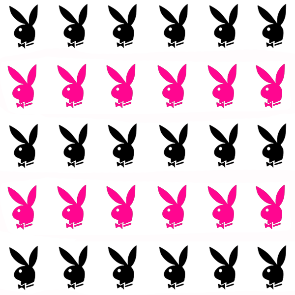 Shellac Light Playboy Bunny Nail Art Decals
