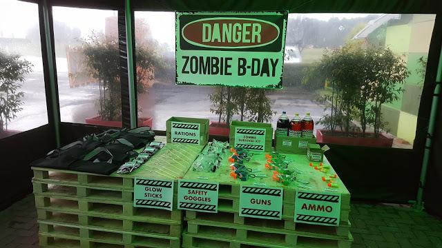 Mesa provisiones fiesta zombie cumpleaños campestre Bogota