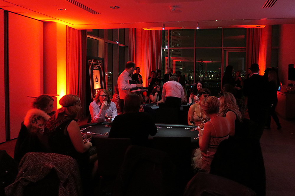 Playing poker at the Ladbrokes Great Gatsby Casino Night - #HoldEm4Charity