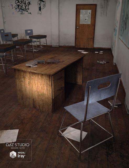 Rundown School Classroom