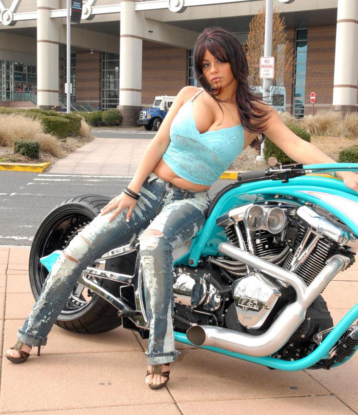Biker Babes On Bike 33
