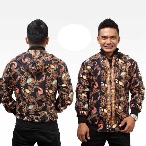 Model Jaket Batik Pria Tampak Depan Belakang