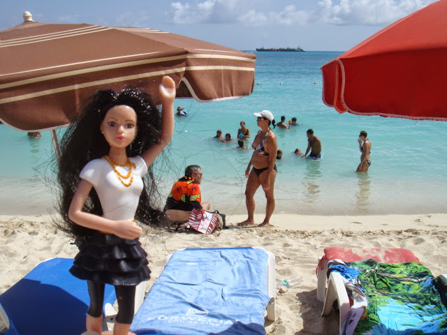Barbie at the beach