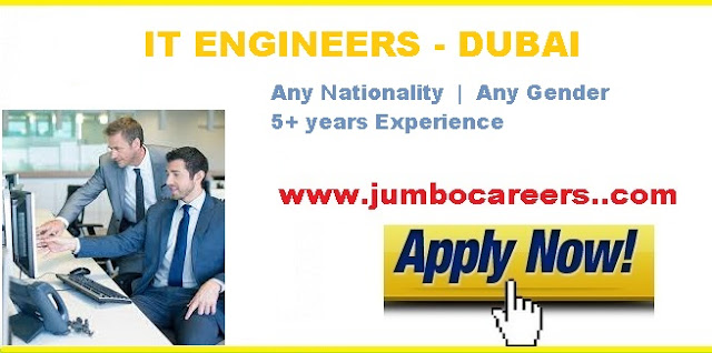 IT computer science Engineer job vacancy in Dubai