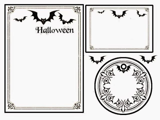 Murciélagos: Kit para Halloween para Imprimir Gratis.   Ideas y ...