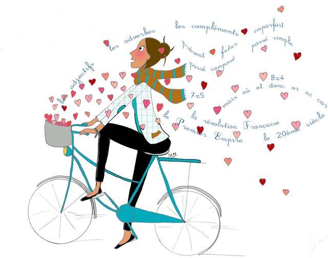 maitresse à vélo