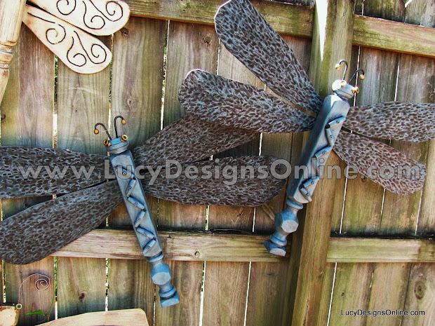 Original Table Leg Dragonflies With Ceiling Fan Blade Wings Lucy Design