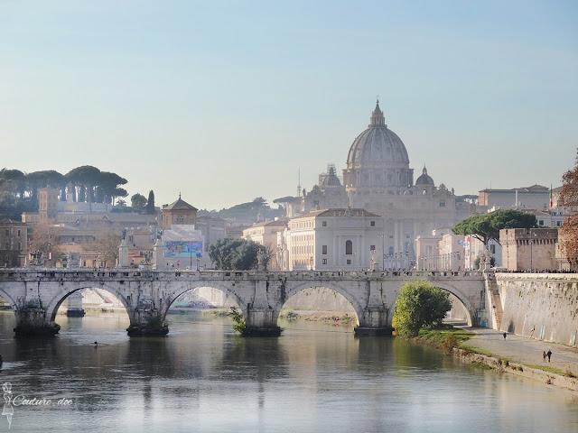 watykan, most, tybr, kopuła, bazylika św piotra