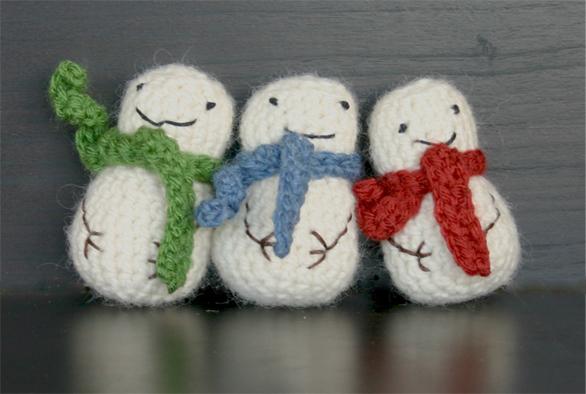Crochet Pattern Snowman Thread | Free Patterns For Crochet