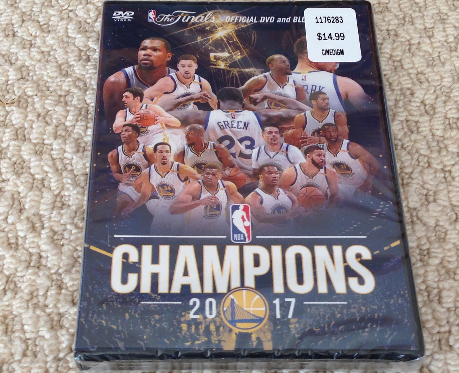 Relive the Warriors 2nd championship in 3 years with Golden State Warriors Official 2017 Championship DVD and Blue-ray
