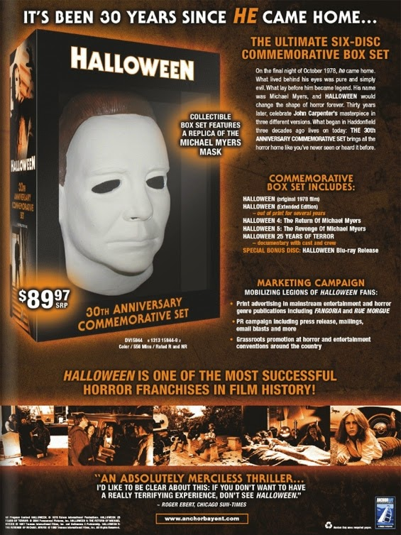 Halloween Blu Ray Box Set.The Horrors Of Halloween Halloween Franchise 1978 2009 Boxset Ads