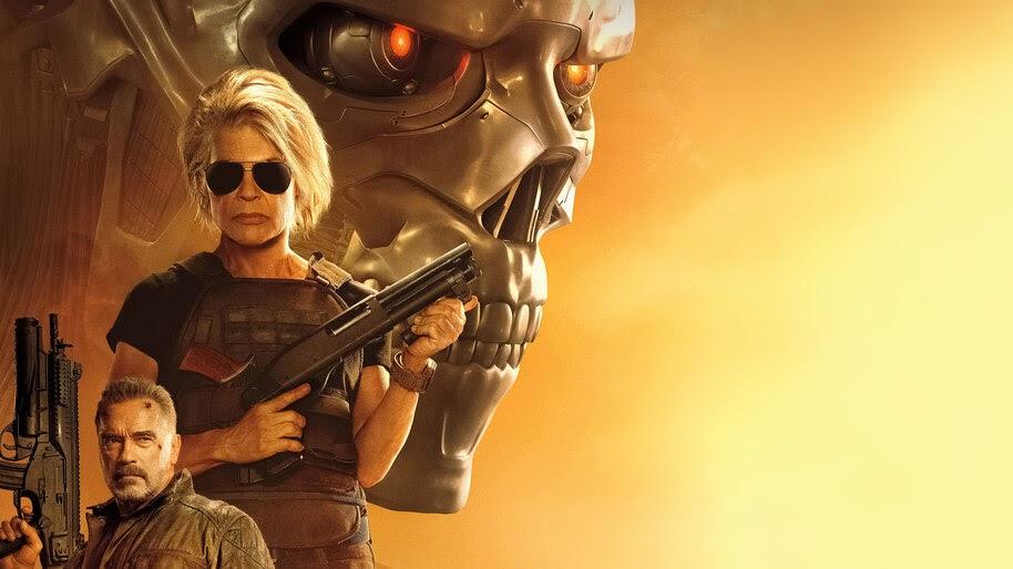 Terminator Dark Fate Sarah Connor 4k Wallpaper 51