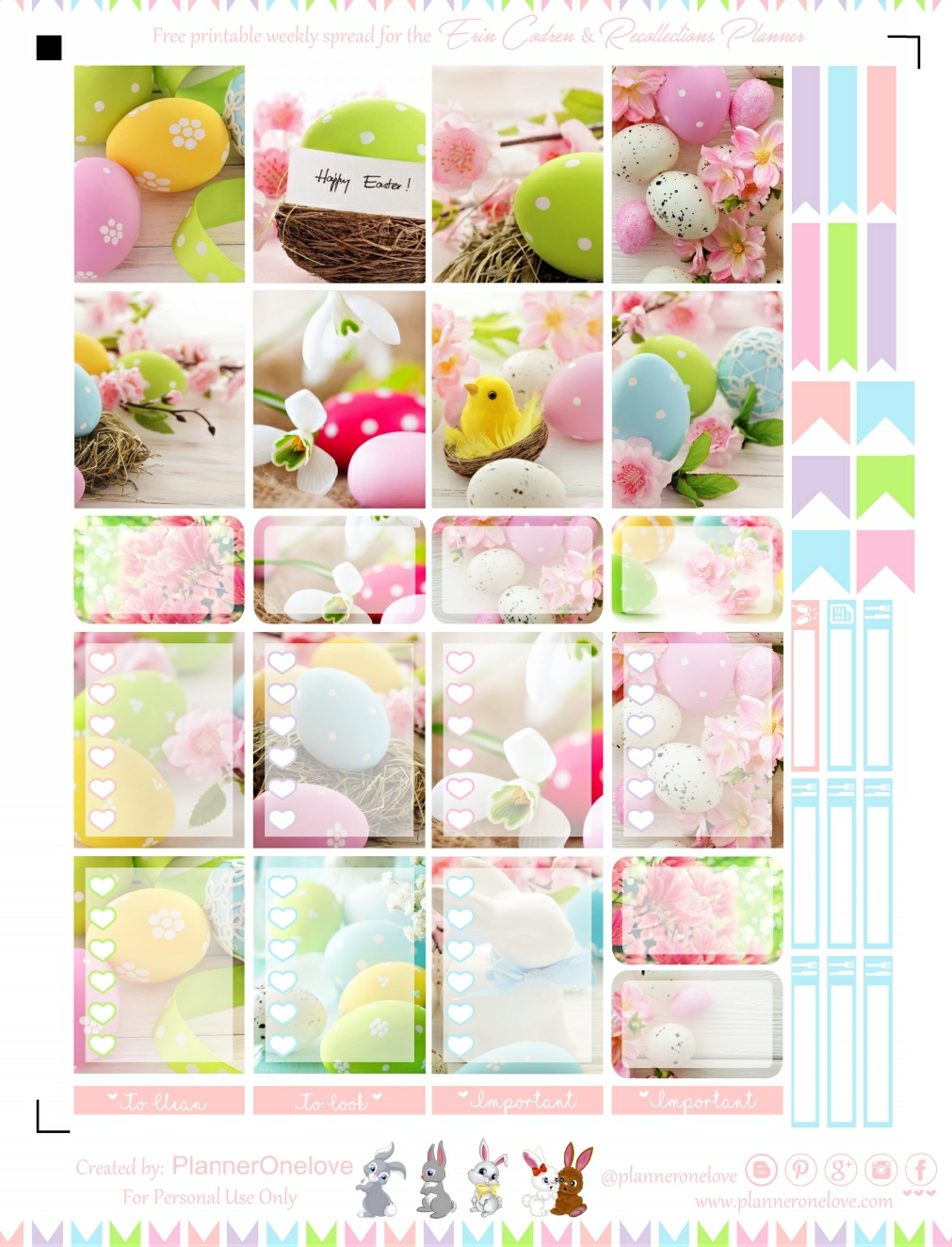 graphic about Free Happy Planner Printables called No cost Joyful Easter Printable Planner Stickers For The Erin