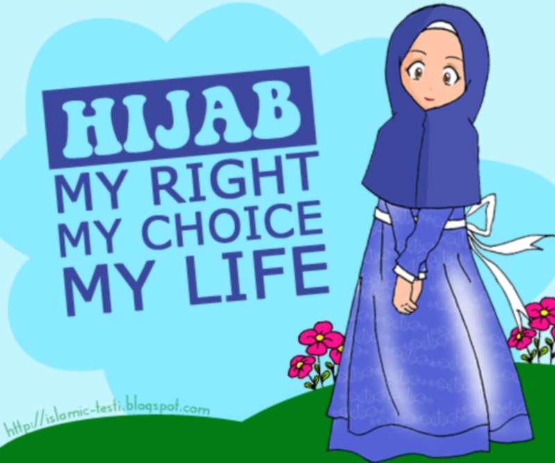 Kartun Islami Gambar Remaja Muslimah Hijab My Right Choice Life