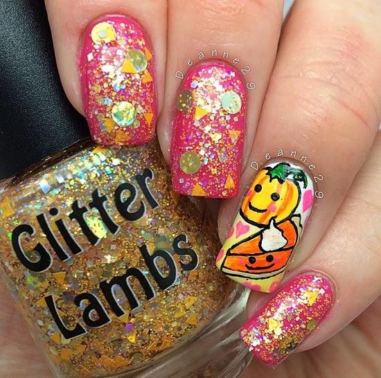 Pumpkin Pie Glitter Lambs Nail Polish