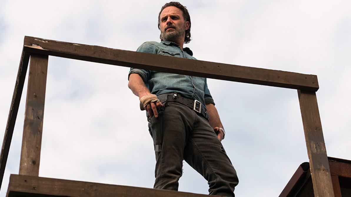 Rick en la Season Finale de la temporada siete de The Walking Dead