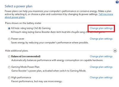 Sobat klik Change Plan Setting.