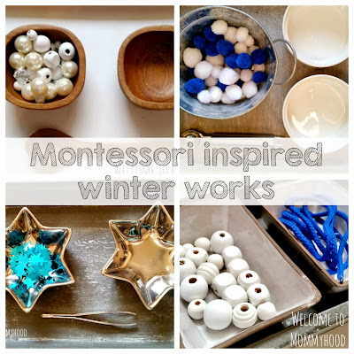 Winter Activities for Kids: Montessori inspired practical life and fine motor activities by Welcome to Mommyhood #montessori, #finemotoractivities, #practicallife, #toddleractivities