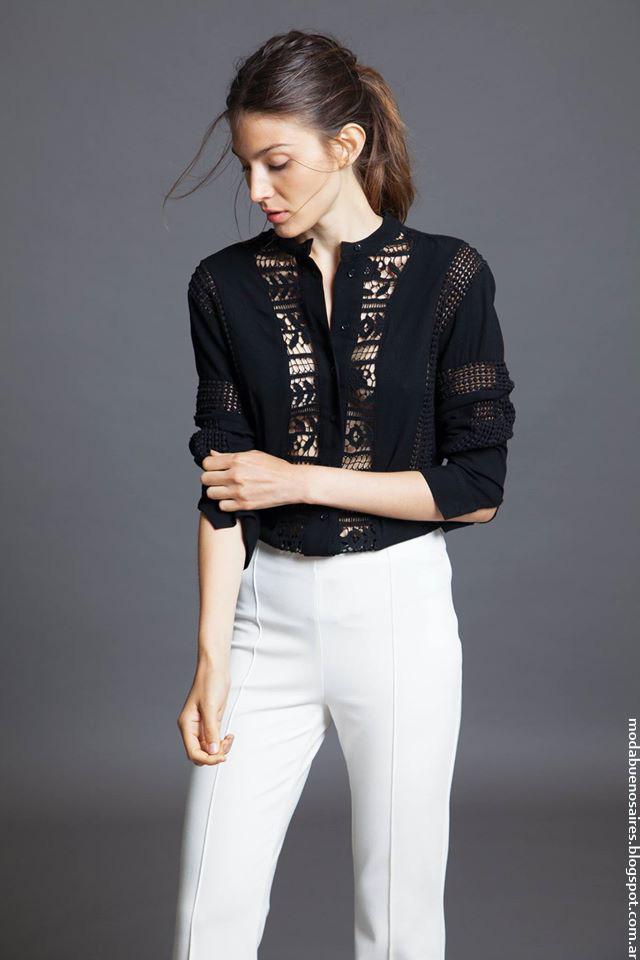 Moda invierno 2016 blusas moda 2016 con encaje. Moda 2016.