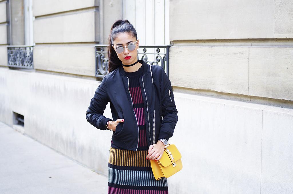 Elizabeth l Fall stripes l H&M knit dress Mango Valentino Zara Stradivarius l THEDEETSONE l http://thedeetsone.blogspot.fr