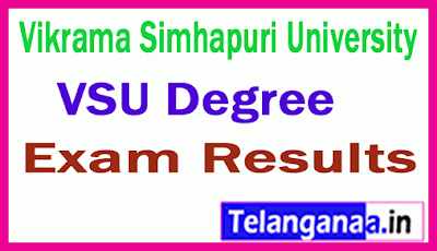 Vikrama Simhapuri University Degree Exam Results