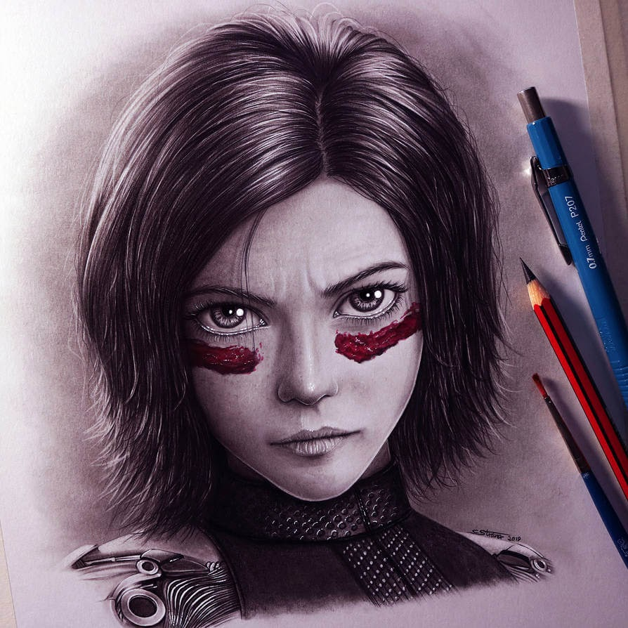 04-Alita-Battle-Angel-C-Straver-Fantasy-Movie-Characters-Drawings-www-designstack-co