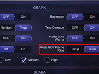 Cara Mengaktifkan Mode High Frame Rate di Mobile Legends