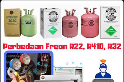 Perbedaan Freon R22, R410 Dan R32