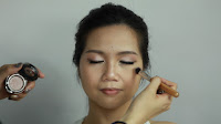 Inner Double Folded Eyelid Makeup -Highlight nose bridge, forehead, cupid bow and chin area with sin color.