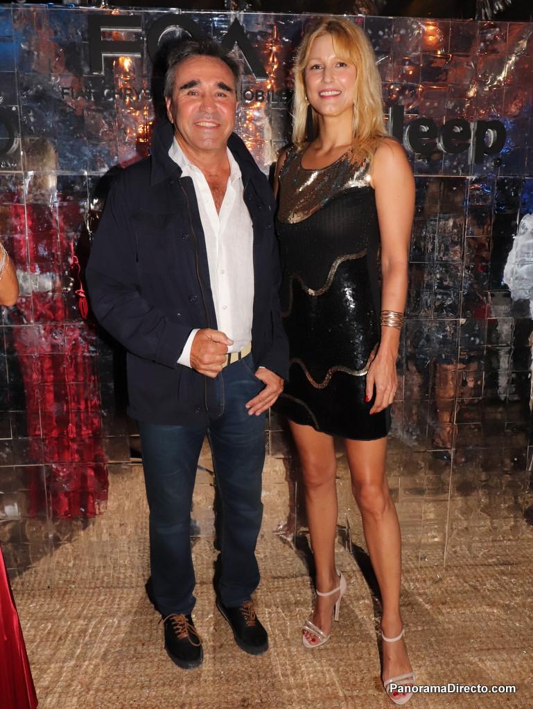 Cocho López y Veronica Colussi en la fiesta de Fiat en #PuntaDelEste