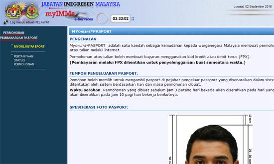 Cara Renew Passport Secara Online