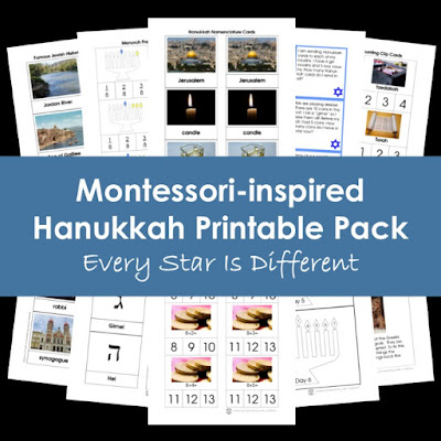 Montessori-inspired Hanukkah Printable Pack