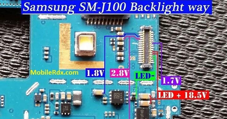 How To Samsung Galaxy J1 SM-J100 Backlight Display Light ...