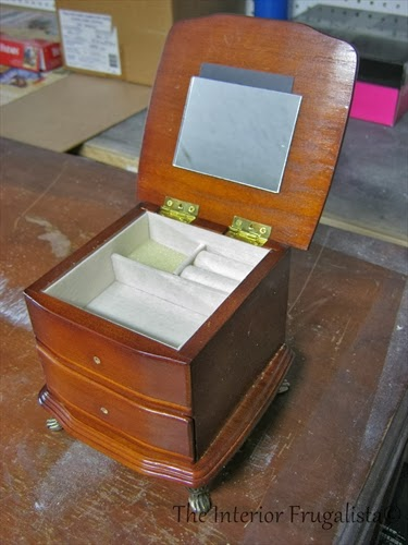 Thrift store jewelry box BEFORE photo 3