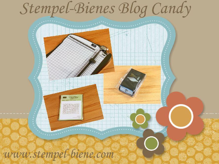 Stempel-Biene Blog Candy, Gratisartikel Stampin Up, Stampin Up Papierschneider, Elementstanze Schleife, Prägeform Herzen, Demonstrator werden, Bestellung Stampin Up